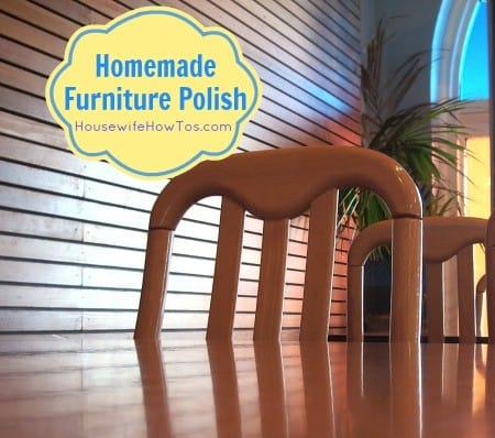 Homemade Furniture Polish recipe from HousewifeHowTos.com