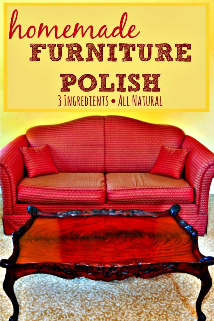 Homemade Furniture Polish cleans, shines, moisturizes, and protects without sticky, cloudy build-up
