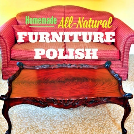 Homemade Furniture Polish Spray Clean and shine for pennies!