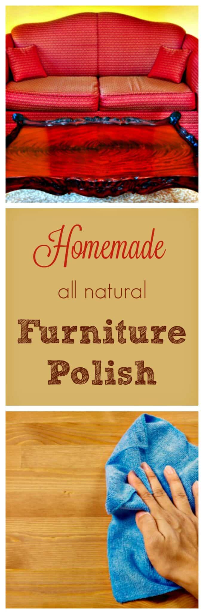 Easy DIY furniture polish recipe that cleans, shines & moisturizes wood furniture