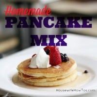 Homemade pancake mix from HousewifeHowTos.com