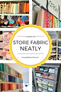 How To Store Fabric - 6 great ideas no matter how much or how little space you have