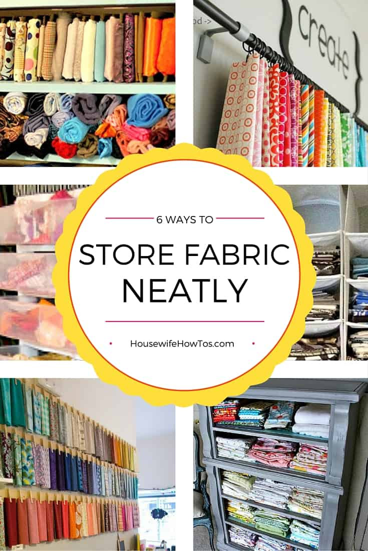 Love to sew? Crazy about crafting? Check out these easy, inexpensive ways to store your fabric stash to keep them accessible yet wrinkle-free. | crafts | home organization | storage ideas | craft room |