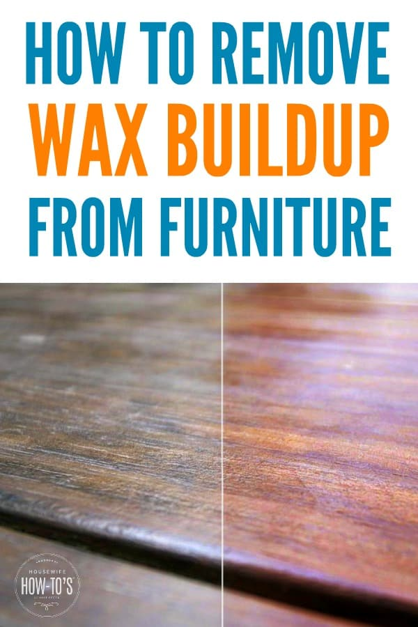 How to Remove Wax Buildup from Furniture - Get rid of that sticky gunk with household ingredients. Really important if you're going to paint it! #cleaning #waxbuildup #homemadecleaner