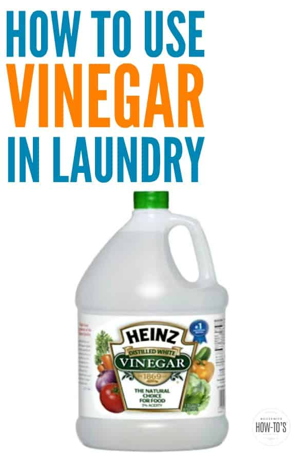 how to use vinegar in laundry housewife how tos. Black Bedroom Furniture Sets. Home Design Ideas