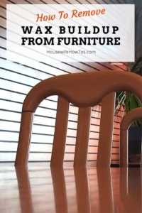 wax off to furniture How strip
