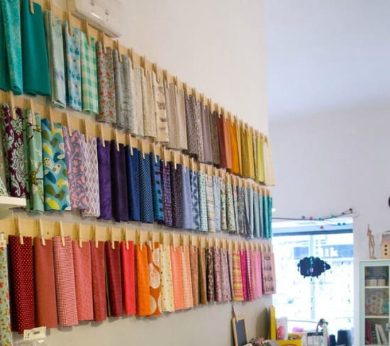 How to store fabric - Display them in the craft room