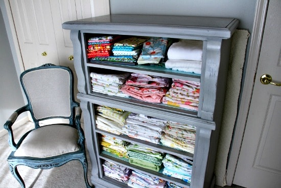 How to store fabric - Repurpose an old dresser
