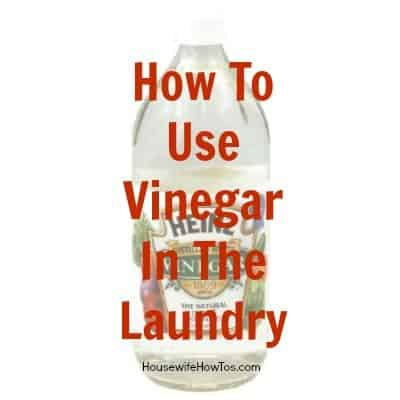 How to use vinegar in laundry from HousewifeHowTos.com