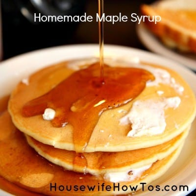 How to make homemade maple syrup from HousewifeHowTos.com