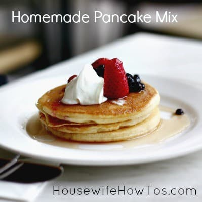 How To Make Homemade Pancake Mix from HousewifeHowTos.com
