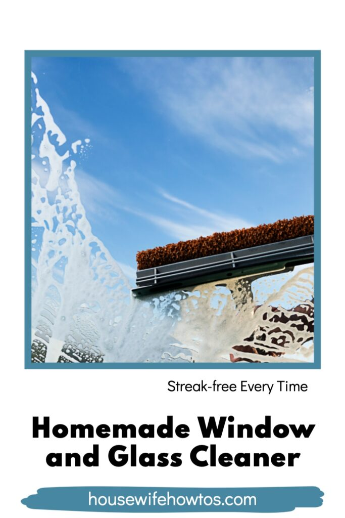 Homemade Window and Glass Cleaner