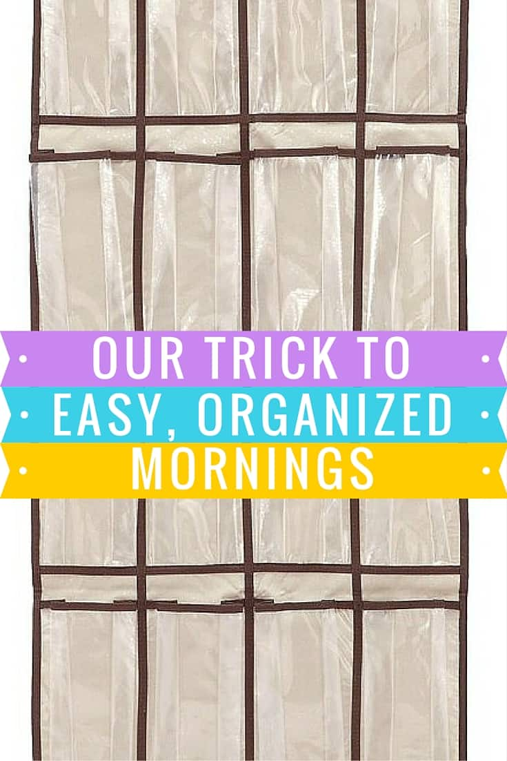 Hanging shoe organizer uses - Our trick to easy and organized mornings via HousewifeHowTos.com