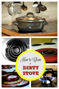 Skip the harsh fumes with this all-natural cleaning method that will get your electric, gas, or ceramic stove clean and shiny. | cleaning tips | kitchen cleaning | cleaning hacks | how-to clean