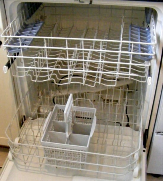 How to clean a dishwasher - Empty it completely