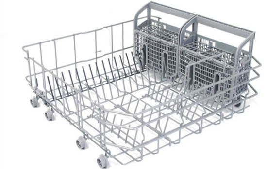 How to clean a dishwasher - Inspect and scrub the racks