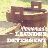 How to make your own laundry detergent from HousewifeHowTos.com