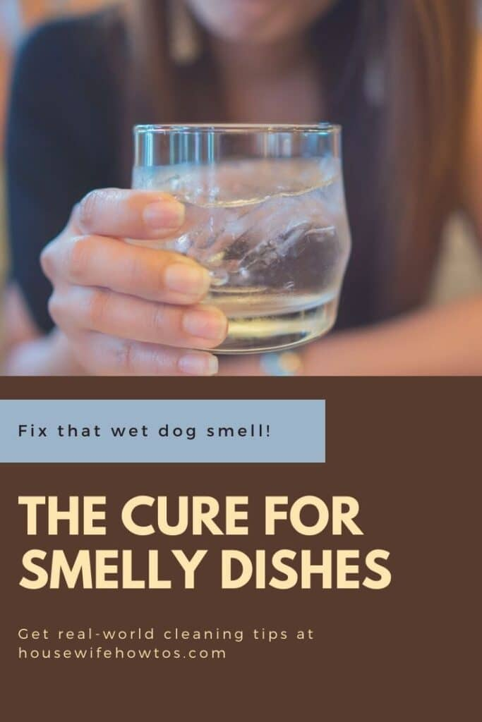 The cure for smelly dishes and the wet dog smell on glasses