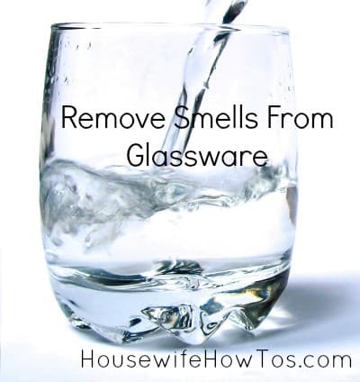 How to remove smells from glasses from HousewifeHowTo.com