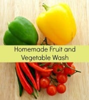 Homemade fruit and vegetable wash from HousewifeHowTos.com