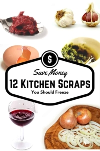12 Kitchen Scraps You Should Freeze | Don't toss out those last bits and drops. These tips can stretch your grocery budget! | cooking tricks | cooking hacks | saving money |