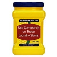 Cornstarch on laundry stains from HousewifeHowTos.com