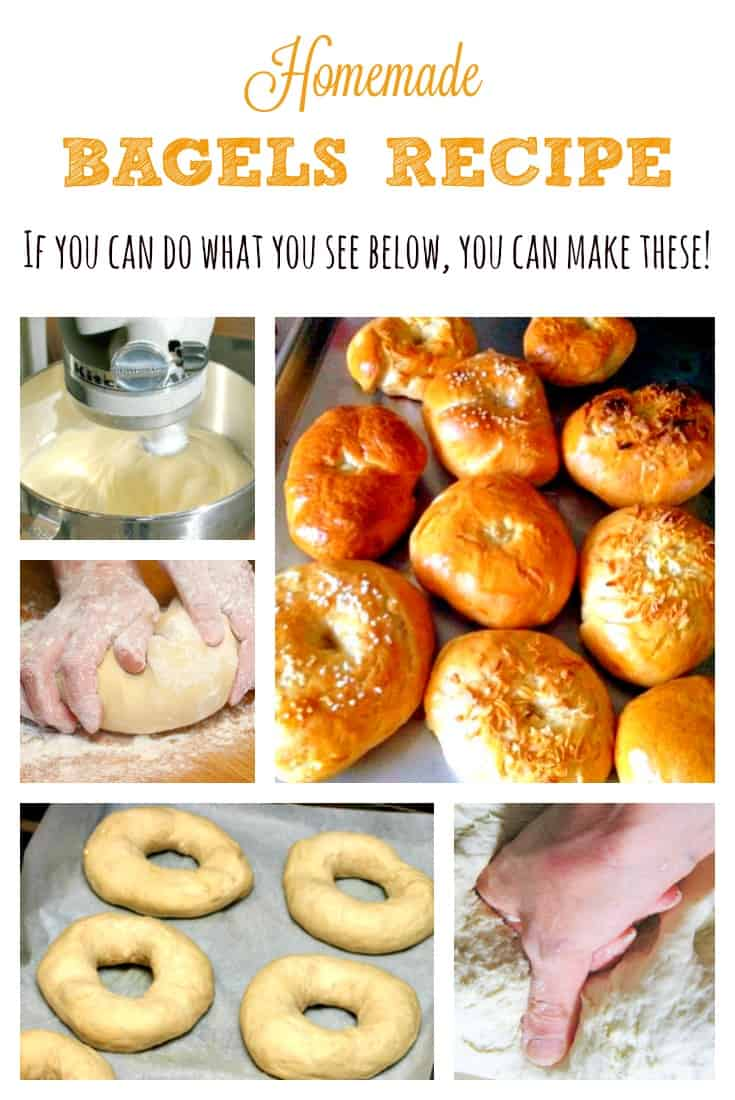 Homemade Bagels Recipe - I don't know why I always thought it must be difficult to make bagels. It's not! I made these and our family loves them. #breakfast #bagels #homemade #baking #recipe