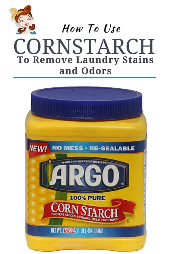 How To Use Cornstarch On Laundry Stains - I had no idea you could use it to get rid of greasy stains or nasty odors. How easy and cheap!