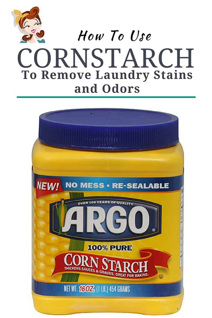 How To Use Cornstarch On Laundry Stains | Cornstarch gets out so many laundry stains for just pennies and without harming your clothes. | laundry | laundry hacks | clothing stains | greasy stains | stained clothes |