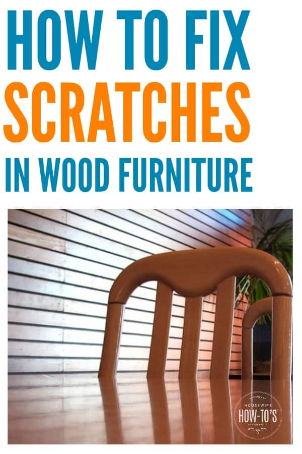How to fix scratches in wood furniture - With these easy, quick, and inexpensive methods I didn't have to sand or stain my furniture to get it looking new again. #woodfurniture #scratches #damagedwood #furniturerepair #furniturepolish #diyfurniturerestoration #diy #homemaking #housewife #housewifehowtos #furniturecare #scratchedwood #householdtip #householdhints