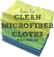 How to clean microfiber cloths from HousewifeHowTos.com