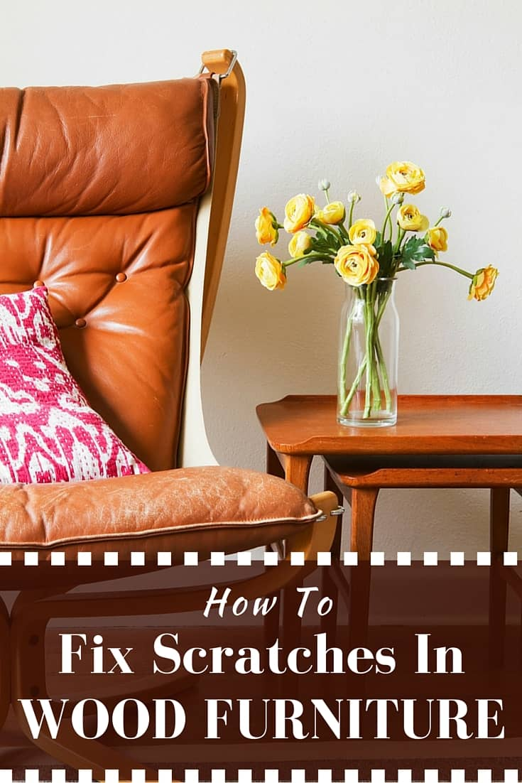 How to fix scratches on wood furniture - With these easy, quick, and inexpensive methods I didn't have to sand or stain my furniture to get it looking new again.