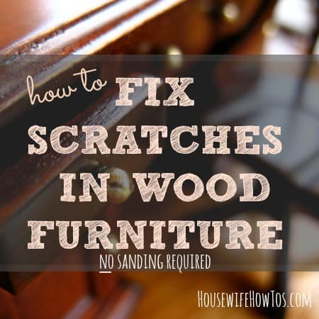How to fix scratches in wood furniture without sanding from HousewifeHowTos.com