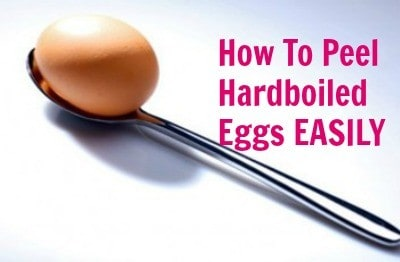 How to peel hardboiled eggs easily from HousewifeHowTos.com