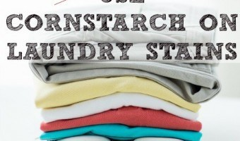 Use Cornstarch On Laundry Stains