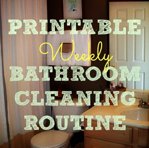 Printable bathroom cleaning routine from HousewifeHowTos.com