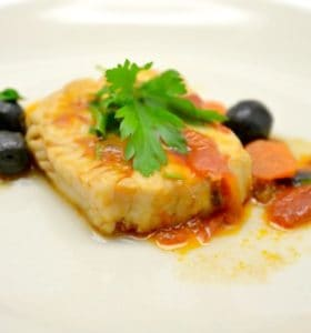 Baked Tilapia with Mediterranean Vegetables Recipe