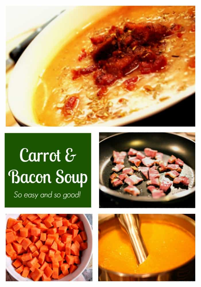 Carrot and Bacon Soup - So easy and so good!