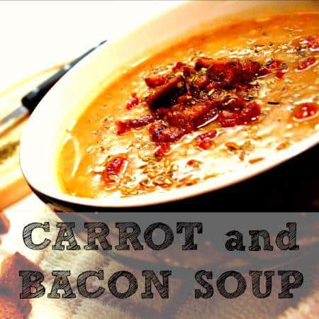 Carrot and bacon soup recipe from HousewifeHowTos.com