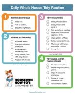 Daily Cleaning Routine Printable Checklist