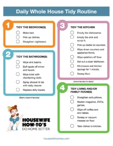Daily Cleaning Routine Printable - Housewife How-To's®