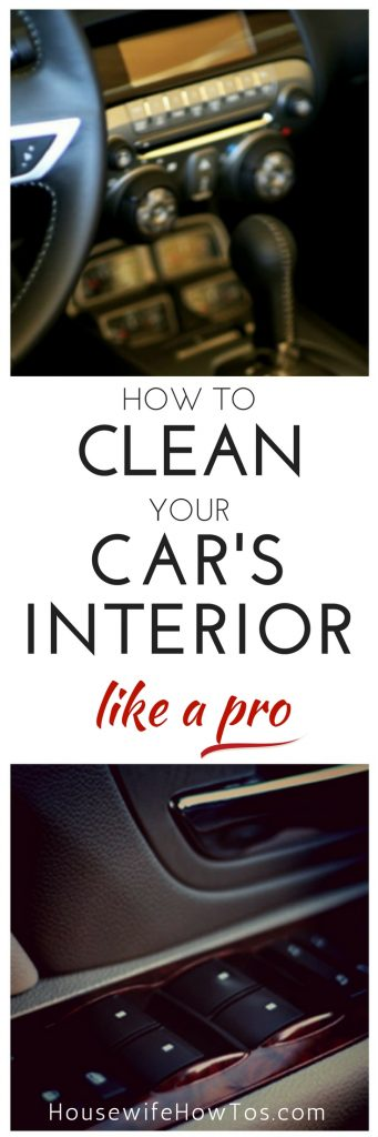 How To Clean Your Car's Interior Like A Pro - I save so much money doing this myself! #car #carcare #automotive #autocare #cleaning #cleaningroutine #cardetailing