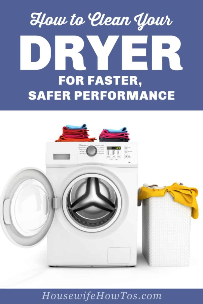 How to Deep Clean a Clothes Dryer