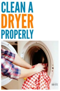 How to Clean a Dryer Properly - Reduce the risk of fire and protect your clothes from shrinking by cleaning your dryer the right way #cleaning #cleaningadvice #deepcleaning #laundry #laundryhacks #clothesdryer