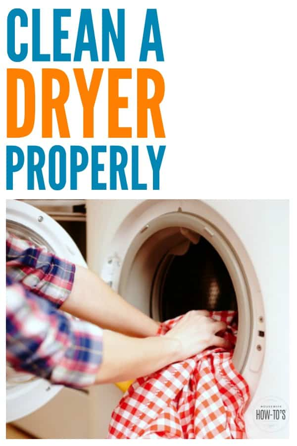 How to Clean a Dryer Properly - Reduce the risk of fire and protect your clothes from shrinking by cleaning your dryer the right way #cleaning #cleaningadvice #deepcleaning #springcleaning #laundry #laundryhacks #clothesdryer #housework #homemaking #housewifehowtos #householdtip #householdhint #homemaintenance #cleaningtip #fireprevention #homesafety