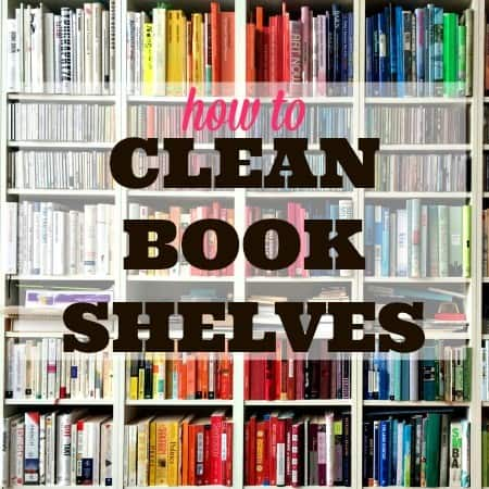 How to clean bookshelves from HousewifeHowTos.com