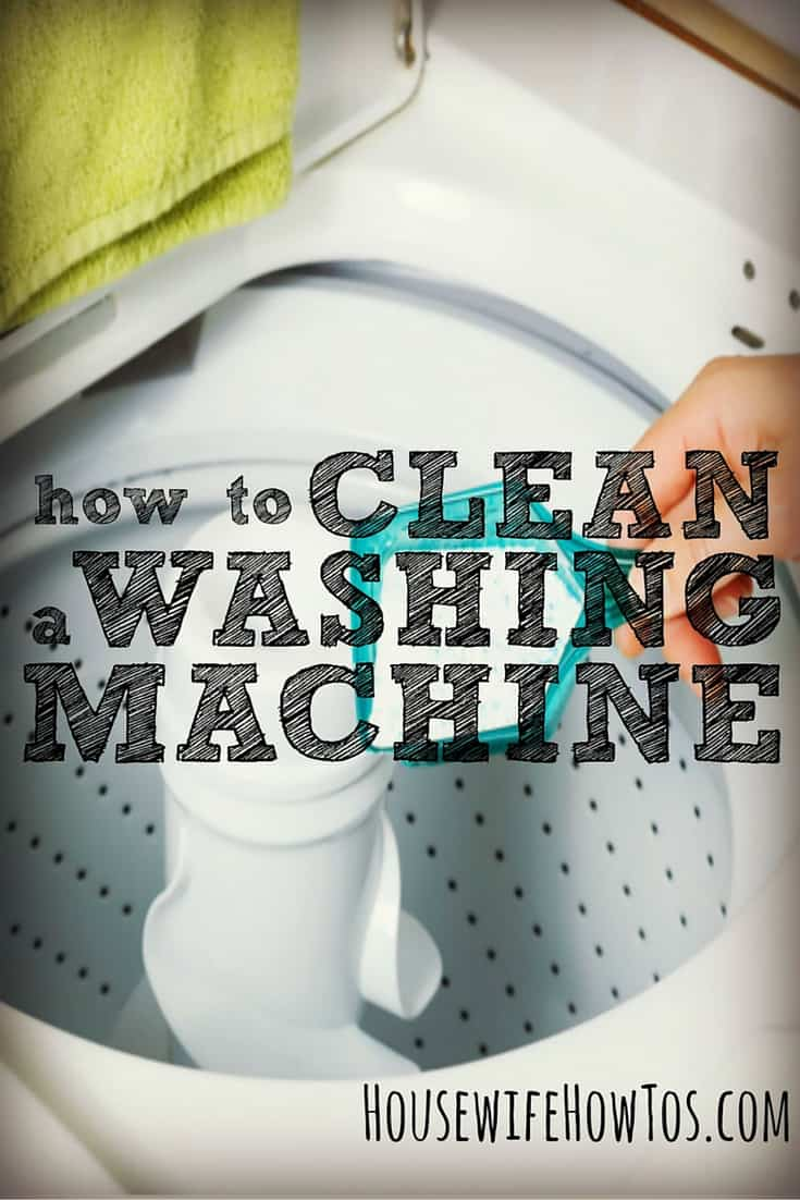 How to clean washing machines - Help your appliance last longer, get cleaner clothes, reduce your water consumption, and protect against burst hoses | via HousewifeHowTos.com