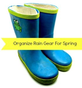 How to organize rain gear for spring from HousewifeHowTos.com