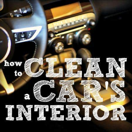 how to clean car interior from HousewifeHowTos.com