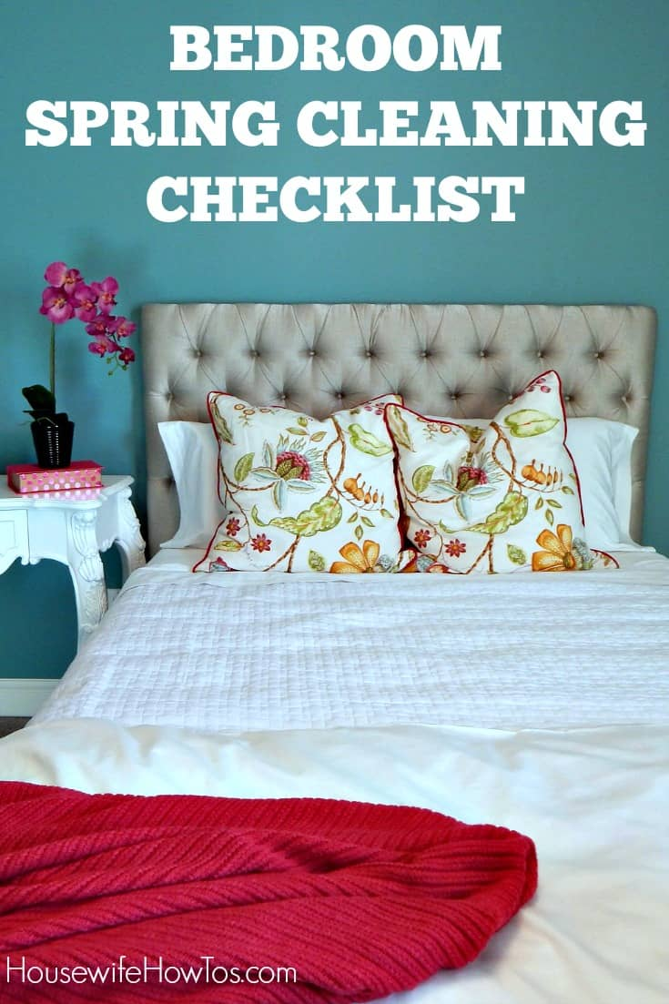 Bedroom Spring Cleaning Checklist Free Printable - Bedroom furniture checklist